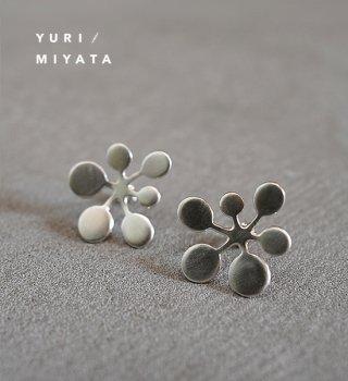 【YURI/MIYATA】ミヤタ ユリ Pierce Leaf /Circle L Silver 02