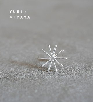 【YURI/MIYATA】ミヤタ ユリ Pierce Leaf / Line S Silver