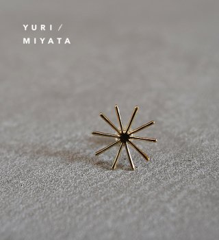 【YURI/MIYATA】ミヤタ ユリ Pierce Leaf / Line S Gold