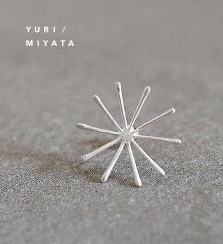 【YURI/MIYATA】ミヤタ ユリ Pierce Leaf /Line L silver