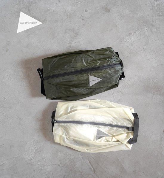 "【and wander】アンドワンダー sil stuffsack small ""2Color"" ※ネコポス可"