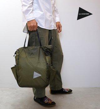 【and wander】アンドワンダー sil tote bag