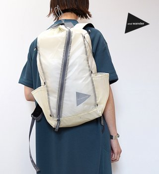 【and wander】アンドワンダー sil daypack