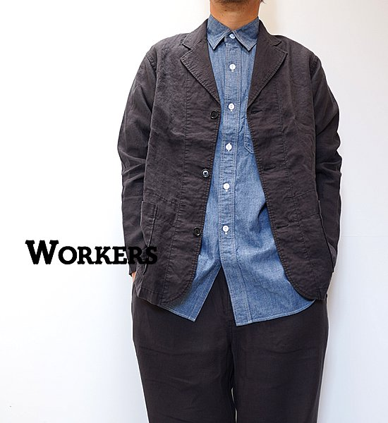 """【WORKERS】ワーカーズ Relax Jacket """"Black Linen"""""""