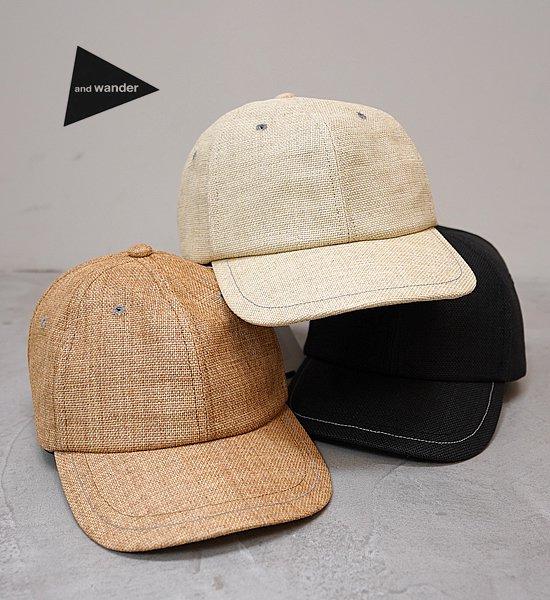 "【and wander】アンドワンダー paper cloth cap ""3Color"""