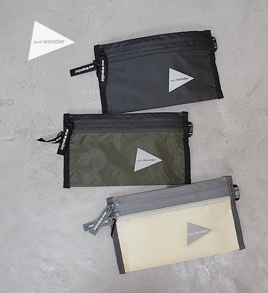 【and wander】アンドワンダー sil secret bag