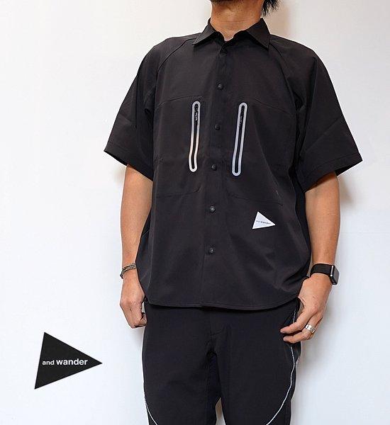 【and wander】アンドワンダー men's tech short sleeve shirt