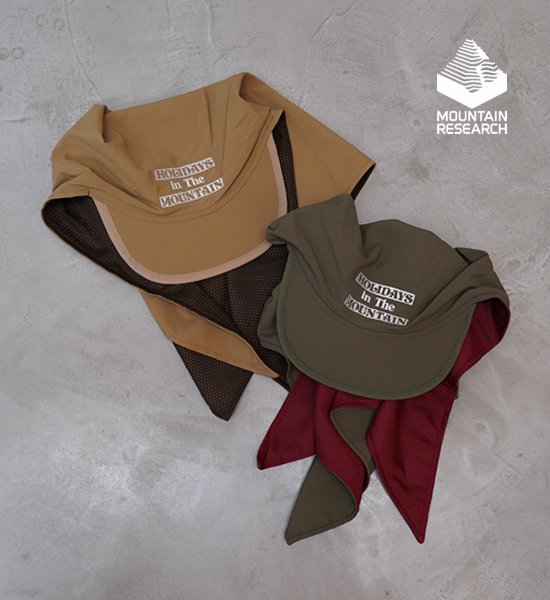 "【Mountain Research】マウンテンリサーチ Bandana Cap ""2Color"""