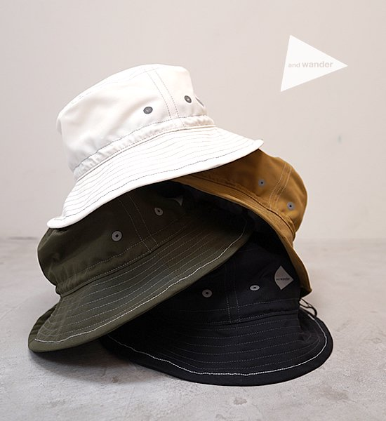 "【and wander】アンドワンダー PE/CO hat ""4Color"""