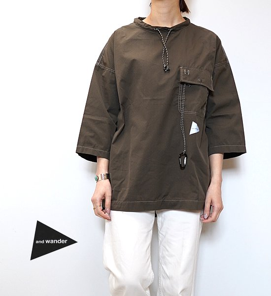 【and wander】アンドワンダー women's dry rip long pullover