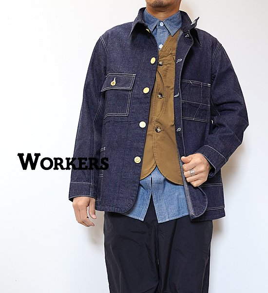 """【WORKERS】ワーカーズ Queen of the road, Railroad Jacket """"Right Hand Indigo Denim"""""""