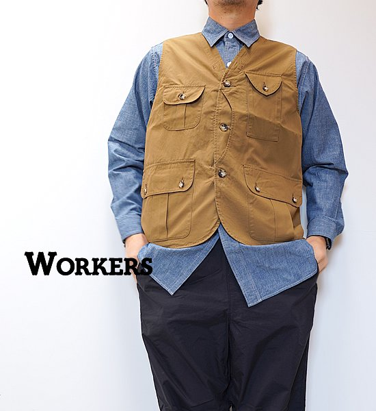 """【WORKERS】ワーカーズ W&G Vest """"2Color"""""""