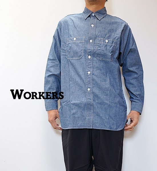 【WORKERS】ワーカーズ Work Shirt,Vintage Fit
