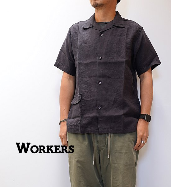 【WORKERS】ワーカーズ Open Collar Shirt