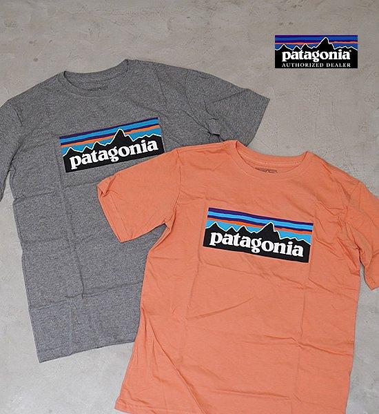 【patagonia】パタゴニア Boys' P-6 Logo Organic T-Shirt
