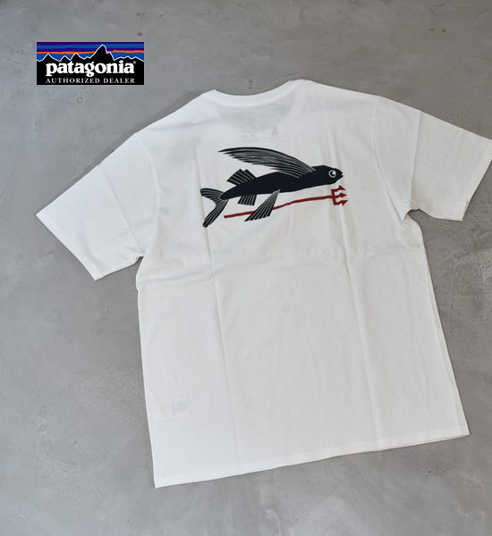 【patagonia】パタゴニア men's Flying Fish Organic T-Shirt