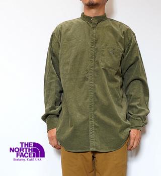 【THE NORTH FACE PURPLE LABEL】ノースフェイスパープルレーベル men's Corduroy Band Collar Shirt