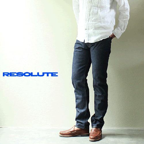 【RESOLUTE】 リゾルト 712 テーパードストレート ※ジッパーフライモデル