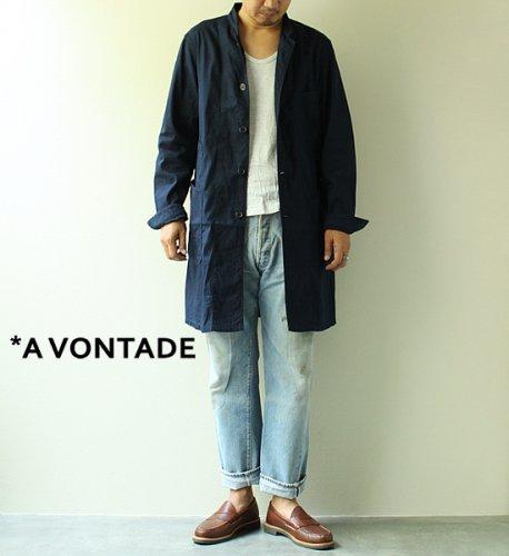 【A VONTADE】 アボンタージ Stand Collar Duster Coat Indigo