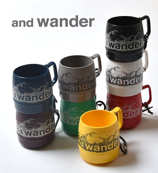"【and wander×DINEX】 アンドワンダー×ダイネックス DINEX Printed Mug ""8Color"""