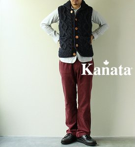 <img class='new_mark_img1' src='//img.shop-pro.jp/img/new/icons13.gif' style='border:none;display:inline;margin:0px;padding:0px;width:auto;' />【Kanata】 カナタ Cable Front Vest Yosemite別注カラー