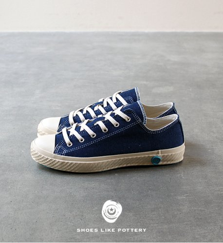 "【SHOES LIKE POTTERY 】 シューズライクポタリー Low ""Light Navy(正藍染め)"""