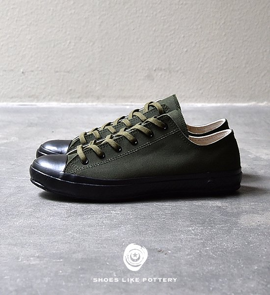 "【SHOES LIKE POTTERY 】 VULCANIZED CLOTH SHOES LIKE POTTERY ""Olive Duck Paraffin"""