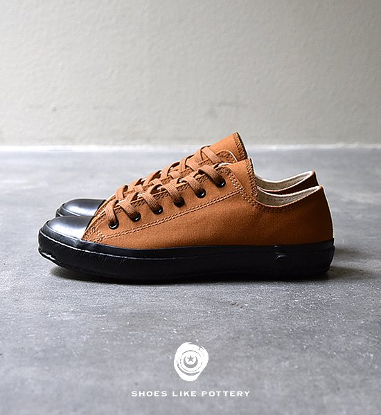 "【SHOES LIKE POTTERY 】 VULCANIZED CLOTH SHOES LIKE POTTERY ""Brown Duck Paraffin"""