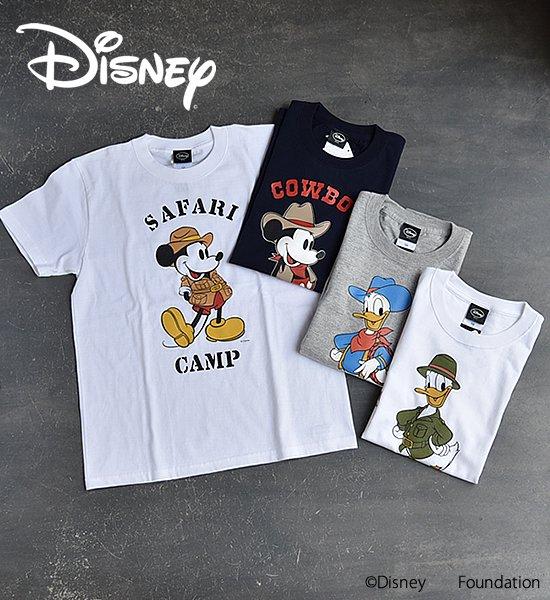 【DISNEY/COWBOY CAMP MICKEY & DONALD】 【DISNEY/SAFARI CAMP MICKEY & DONALD】 T-shirt ※メール便可
