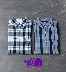 """<img class='new_mark_img1' src='https://img.shop-pro.jp/img/new/icons13.gif' style='border:none;display:inline;margin:0px;padding:0px;width:auto;' />【THE NORTH FACE PURPLE LABEL】 COOLMAX® Indigo OX Check B.D Shirt """"2Color"""""""