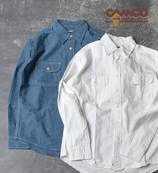 <img class='new_mark_img1' src='//img.shop-pro.jp/img/new/icons13.gif' style='border:none;display:inline;margin:0px;padding:0px;width:auto;' />【CAMCO】 カムコ Chambray Shirts