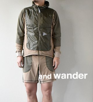 "★40%off【and wander】 アンドワンダー men's mixd pile hoodie ""3Color"""