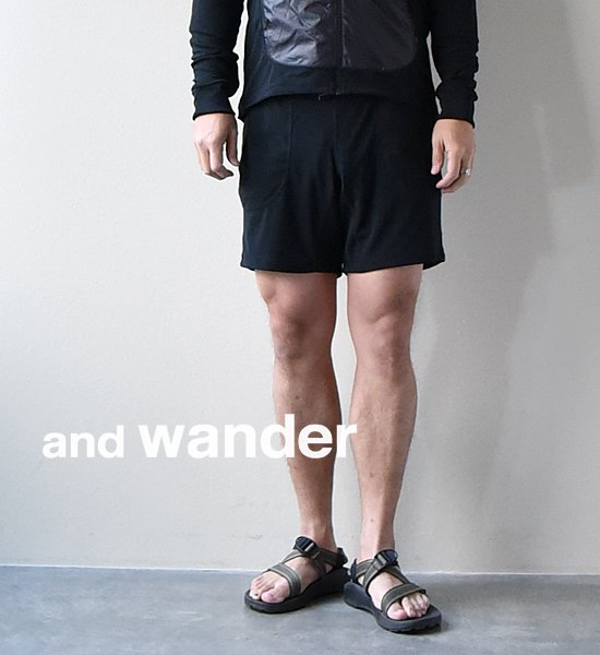 ★40%off【and wander】 アンドワンダー men's mixd pile short pants