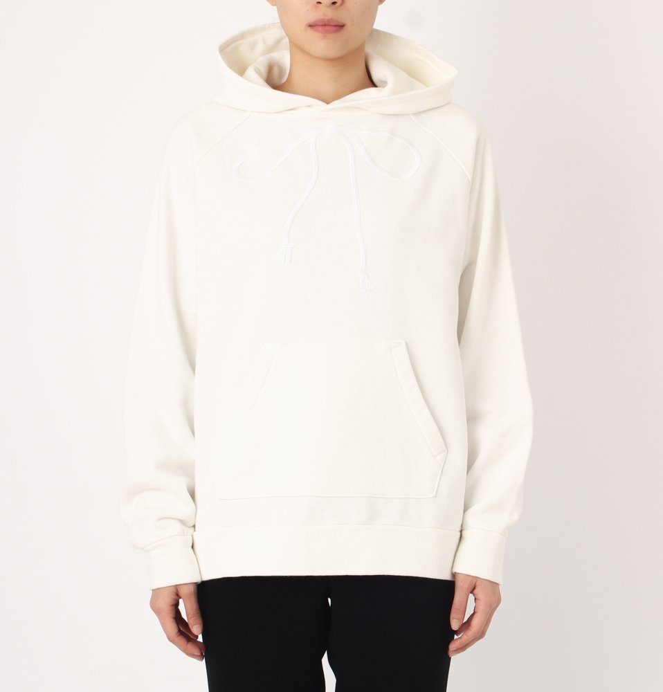 EMBROIDERY HOODIE(WHITE)