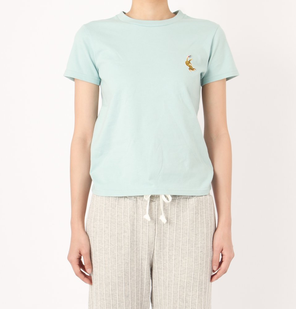 EMBROIDERY LADIES TEE(L.GREEN)