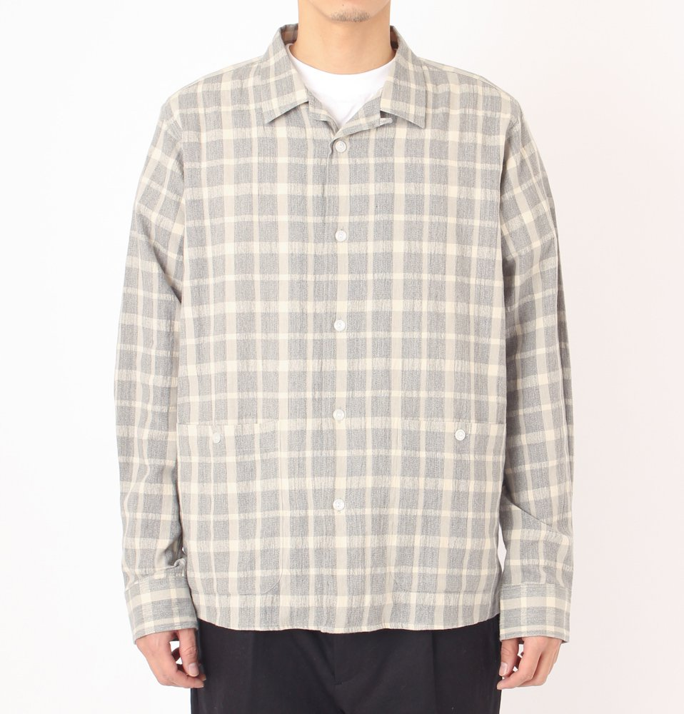 NIJIMA CHECK SHIRTS(GRAY)