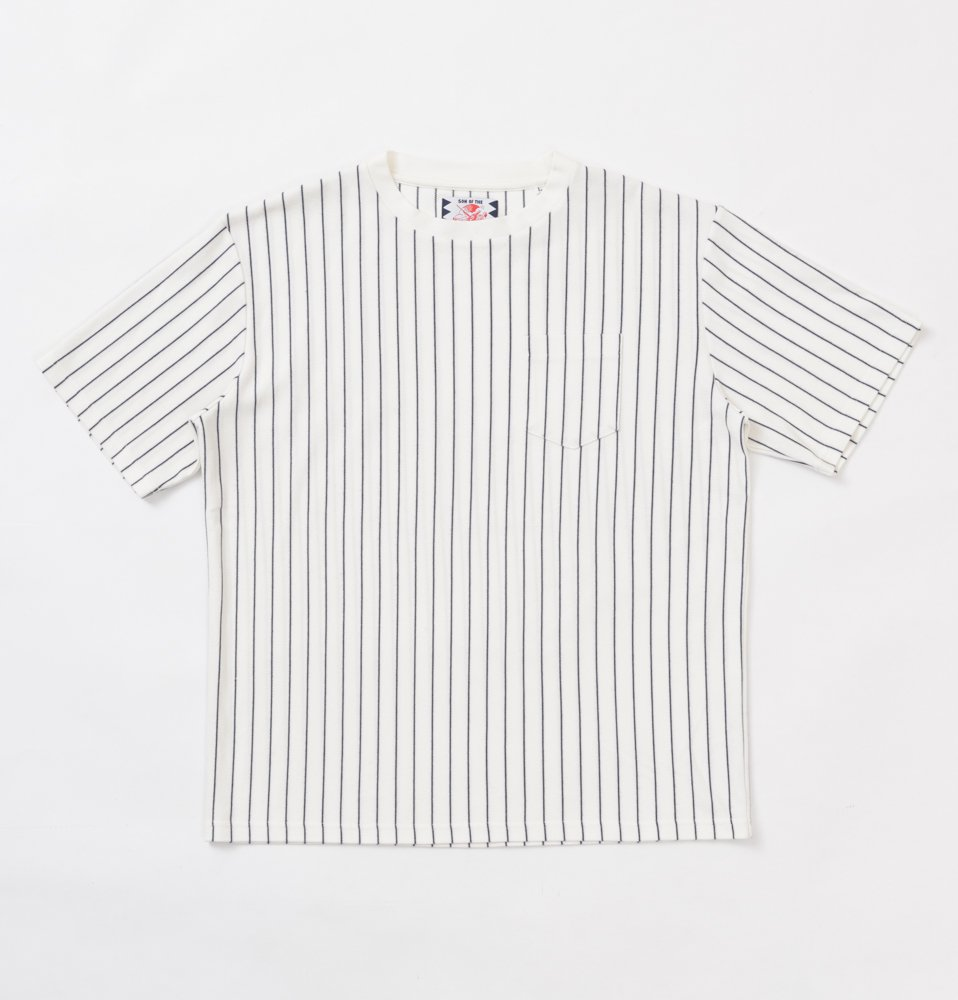 STRIPE TEE(WHITE)