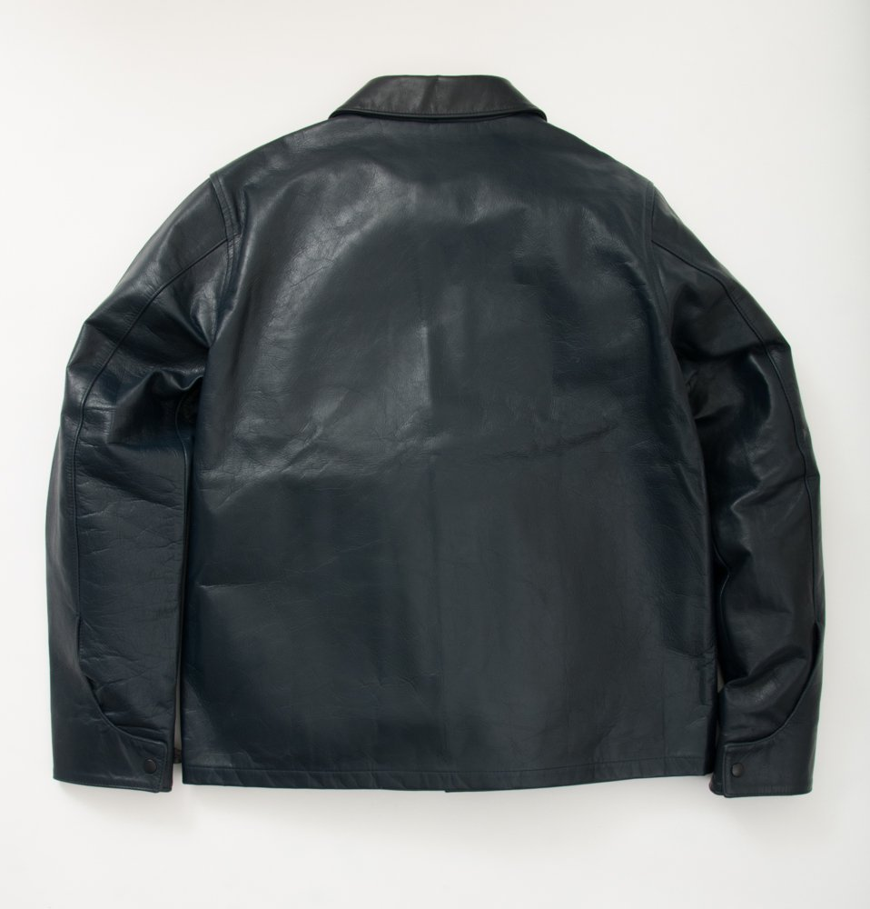 A2 all leather JKT(NAVY)