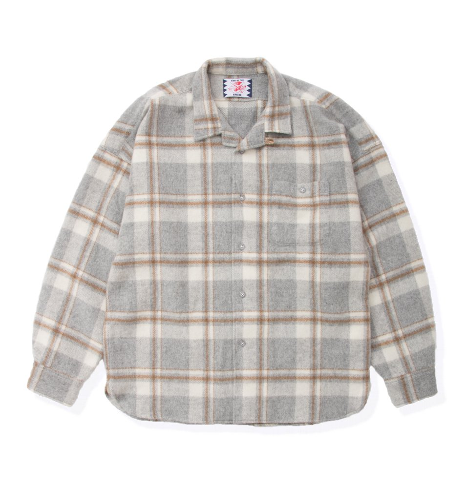 Long flannel shirts(GRAY)