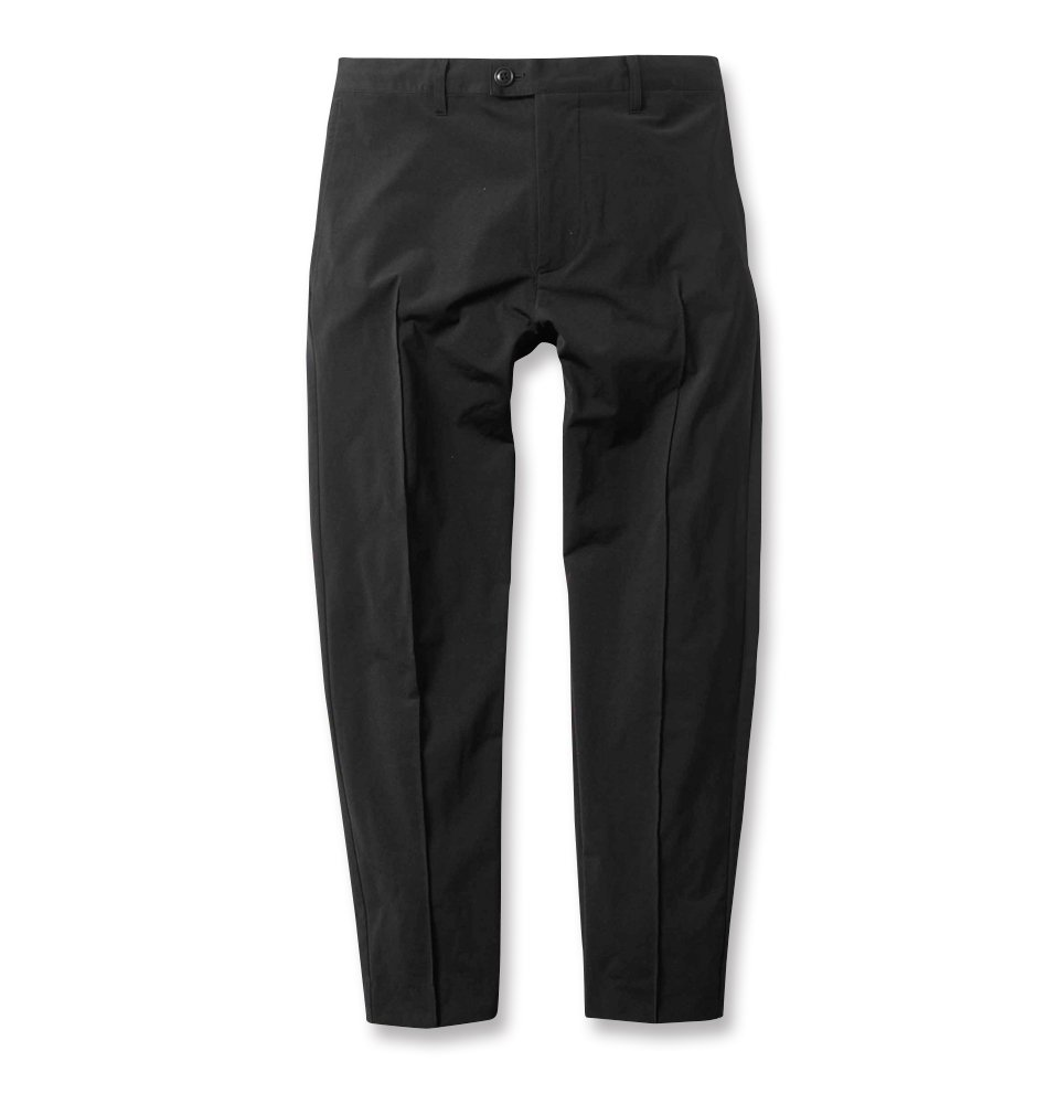 CROPPED PLEATED PANTS(BLACK)
