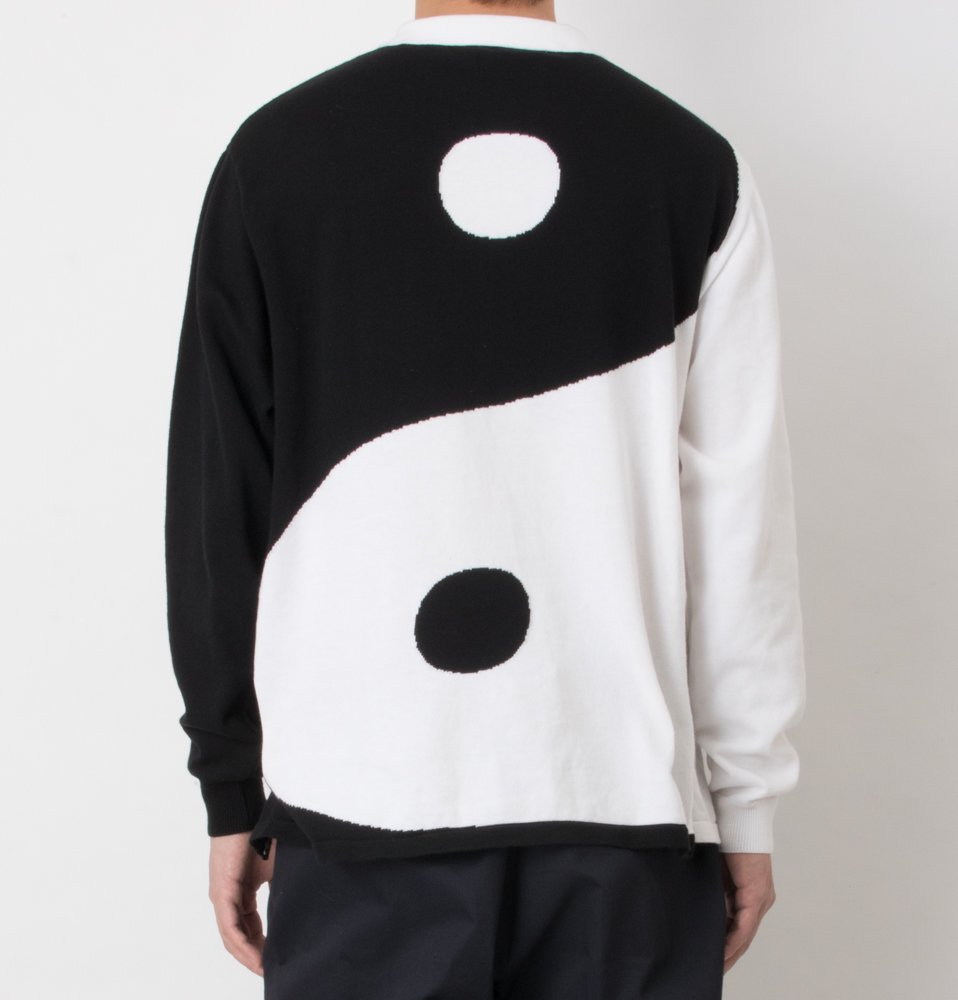 YIN YANG shirts(WHITE×BLACK)