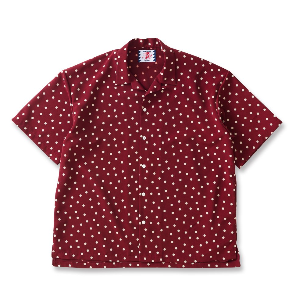 rain dot shirts(WINE)