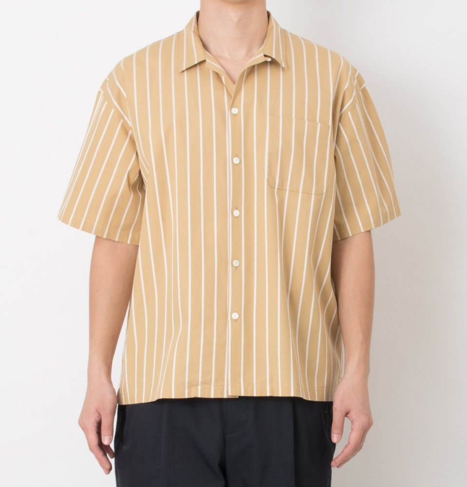 Stripe stripe shrits(YELLOW)