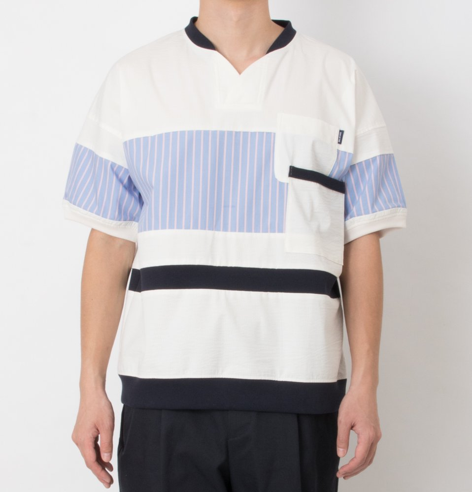 cool max patch work TEE(WHITE)