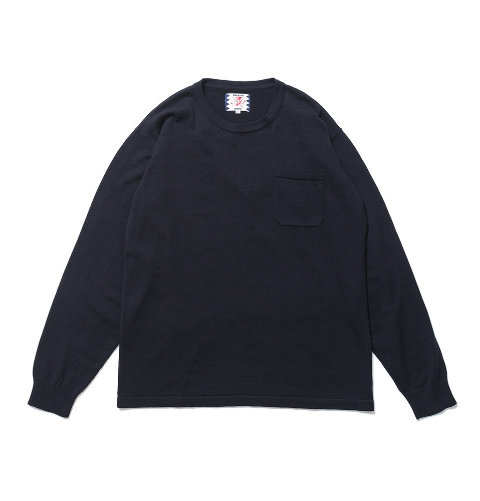 C100 long sleeve(NAVY)