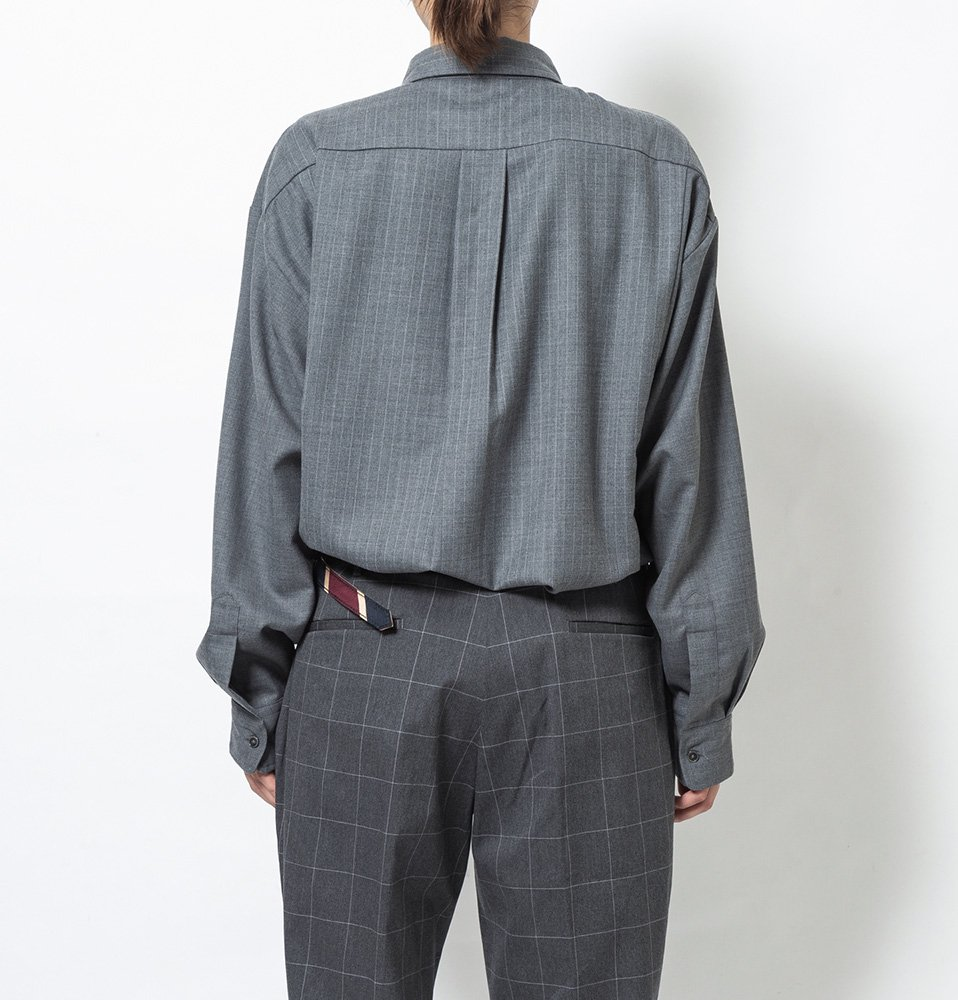 Two tone shirt(GRAY)