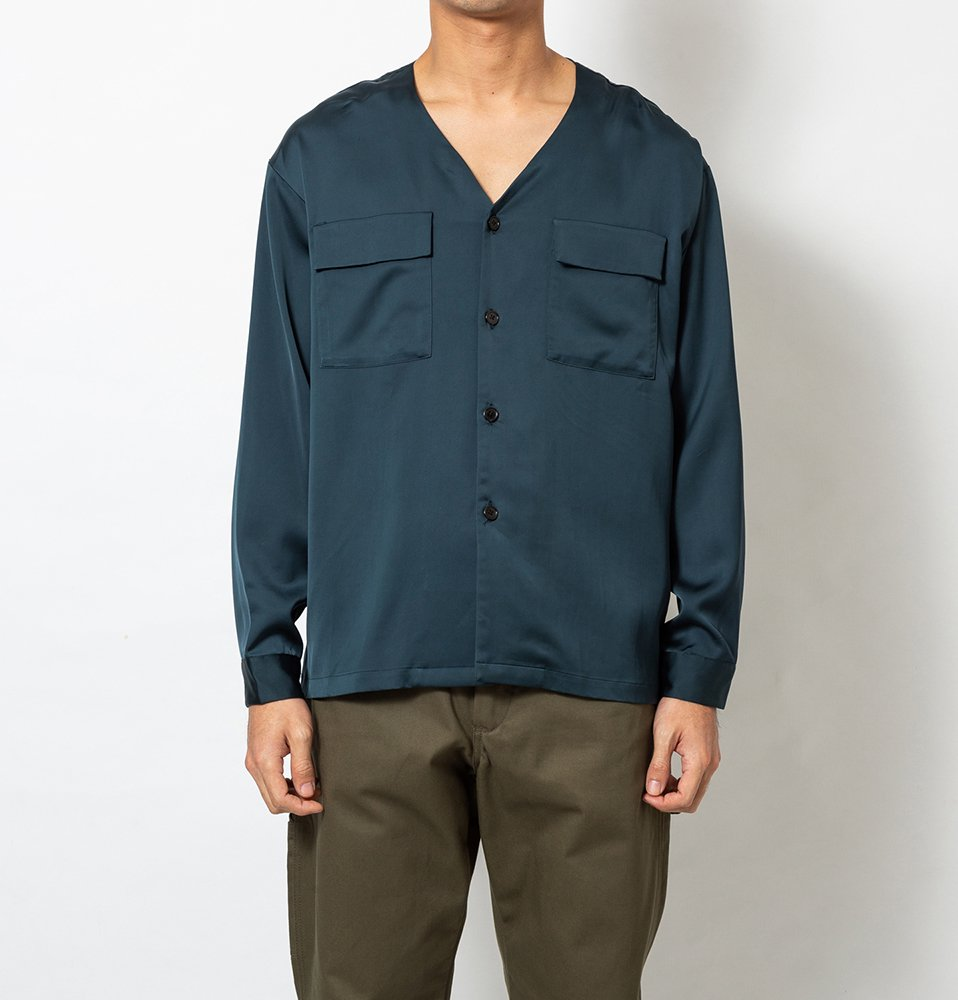 NO COLLAR Shirt(NAVY)