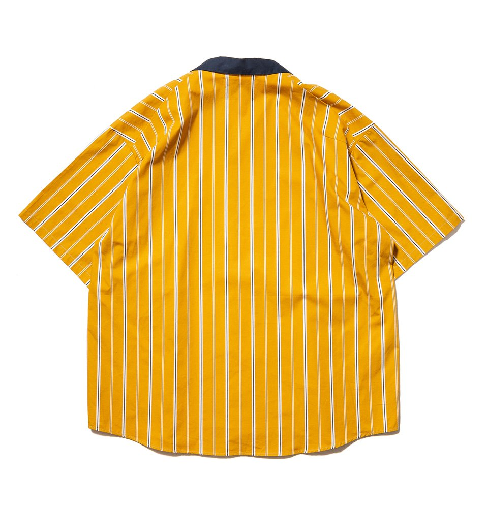 Stripe Cleric Shirt(YELLOW)