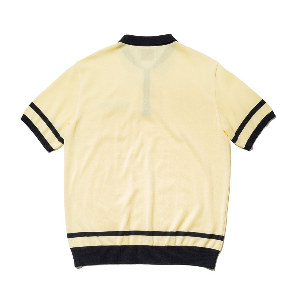 Border KNIT Polo(YELLOW)