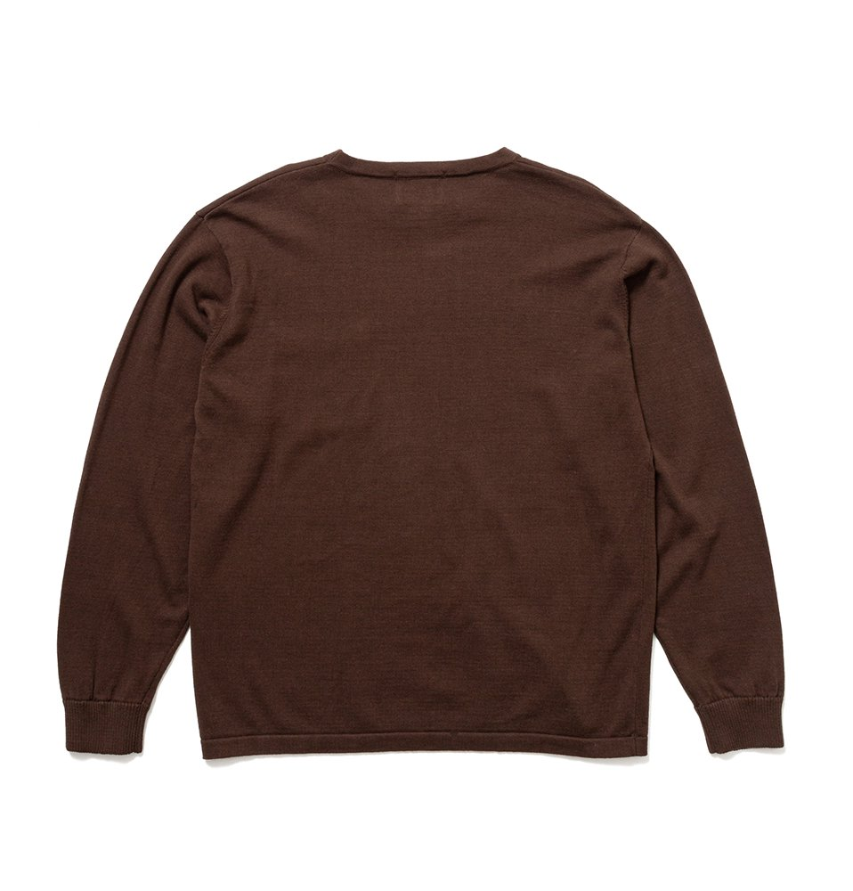 C100 long sleeve(BROWN)